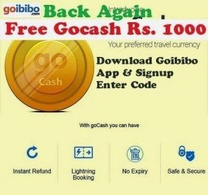 Goibibo App Offer & Get Rs. 1000 goCash