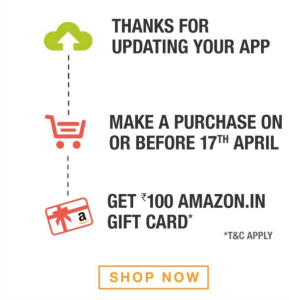 Download Amazon App Get Free Rs 100 Gift Card