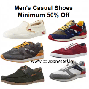 Amazon Men's Casual Shoes Minimum 50% Off