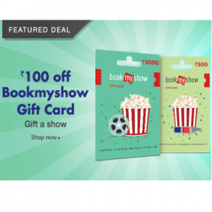 Amazon BookMyShow Gift Card Vouchers Offers