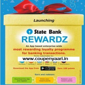 State Bank Rewardz App Free 100 Points - Free Rs. 25 Mobile Recharge