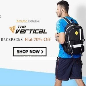 Amazon The Vertical Wallets & Backpack 70% off from Rs. 179