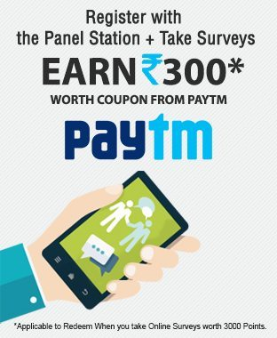 Download The Panel Station App Survey and Get Paytm, Freecharge, FK Vouchers & Gift Cards