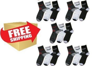 Ebay Loot 15 pair of ankle sports socks (best price)