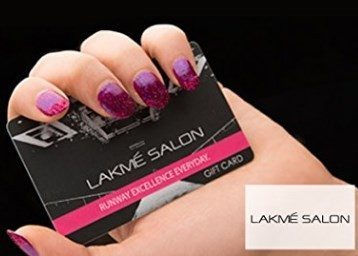 Amazon Lakme Salon E-Gift Card at 25% off