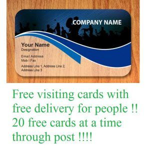 Robofissionlabs Free 20 Quantity Visiting Cards