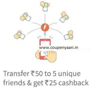 Freecharge Share and Earn - Send Rs 50 to 5