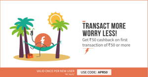 Freecharge Loot : Cashback Offers Recharge Rs 50 and get Rs 50 100% Cashback