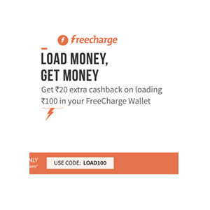 Freecharge Wallet Rs. 20 cashback on Adding Rs. 100