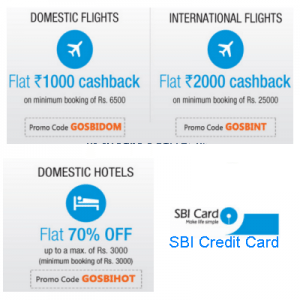 Goibibo SBI Credit Card Offer on Domestic/ International Flight & Hotels