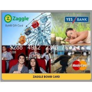 Zaggle BomB Card 10% off + Transfer to Bank Account using BookMyShow