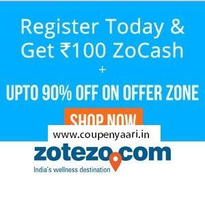 Zotezo Free Zocash Rs. 100 Off on Rs. 600 coupon on Sign up + 1% Off