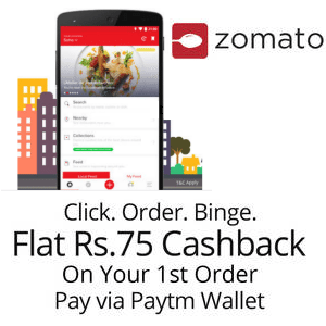 Zomato Pay With Paytm Wallet Get Flat Rs 75 Cashback