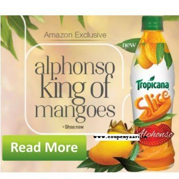 Tropicana Slice Alphonso Juice 400ml Rs. 1