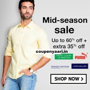 Amazon Top Brands Men's Clothing Minimum 50% off + 35% off