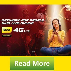 Idea 4G Loot : Free Idea 4G 1GB Data Offer for 5 days