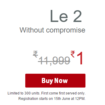 Script to buy LeTv Le 2 Successfully Rs 1 on 20th June Flipkart flash sale