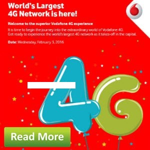 Free Vodafone 1GB 4G Data for 3 Days (Select States)