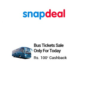 Snapdeal Travel Thursdays Rs 100 Cashback on Bus Tickets, Only for Today
