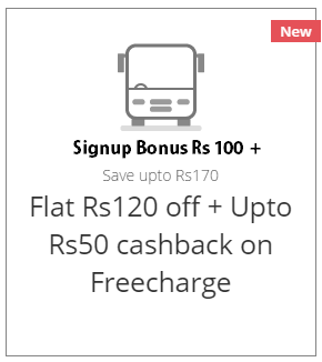RedBus Rs 220 OFF on Rs 300 for New Users