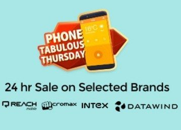 Shopclues Phone Tabulous Thursday 24Hrs Sale