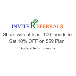 Invitereferrals 10% OFF Refer and Earn