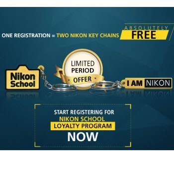 2 Free Key Chains from Nikon School India on Sign up