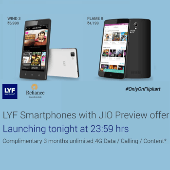 Buy Lyf Smartphone with Jio Previews Offers Flipkart