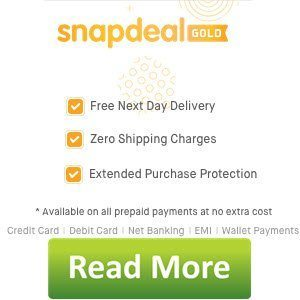 Free Snapdeal Gold Upgrade Free Shipping Multiple Benefits