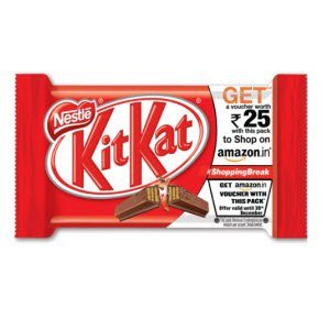 KitKat Free Amazon Gift Voucher Rs. 20 on Rs 20 & Rs 25 on Rs 25
