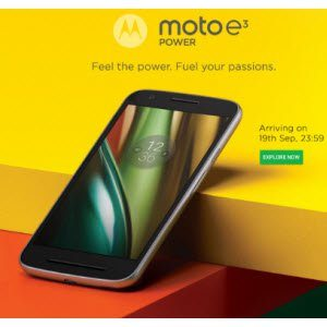 Moto E3 Power + Free 32GB Card + Launching Offer Rs 7199