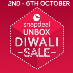 Snapdeal Unbox Diwali Sale and Deals {2nd - 6th October 2016}