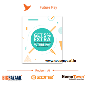 Furure Pay Offer 5% Cashback on Loading Money+ 10% Cashback on Spending