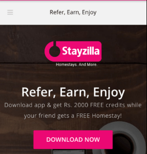 Download Stayzilla App Referral Code AAM0WBD7 Get Free Rs 2000