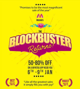 Myntra Block Buster Return Sale on 6th Jan 2018