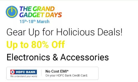 Flipkart The Grand Gadget Days Sale 25th -27th July 2019